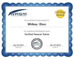 nasm certificate