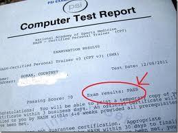 nasm exam report