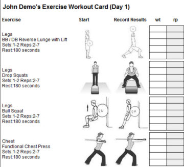 personal trainer workout template - personal trainer forms