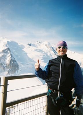 On the Aiguille du Midi, Mt. Blanc, France